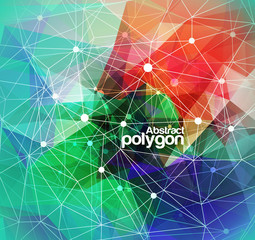 Abstract Polygonal Mosaic Background, Vector illustration
