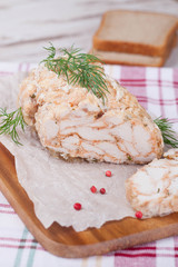 chicken roll with dill