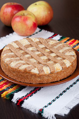 apple pie with cheese cream