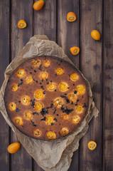 Upside down kumquat cake