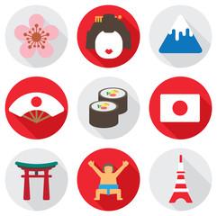 flat icon japan