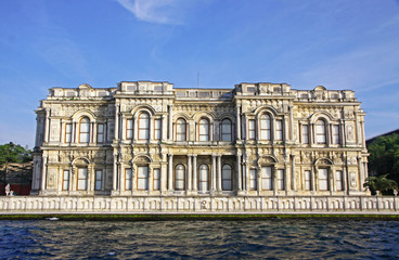 Beylerbeyi Palace on the bank of Bosphorus strait in Istanbul