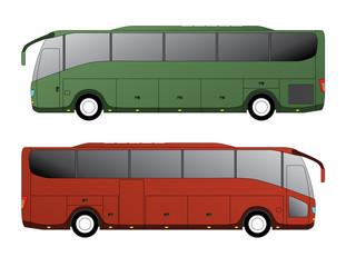Tourist bus design with single axle