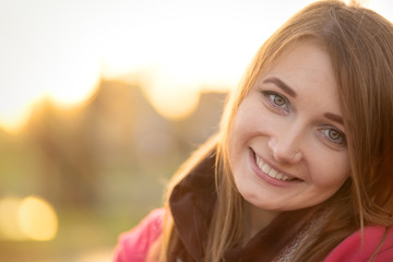 smiling pretty girl
