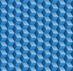 Seamless pattern with 3d cubes