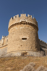 Castle of Grajal de Campos. Military construction of the XVI, Sp