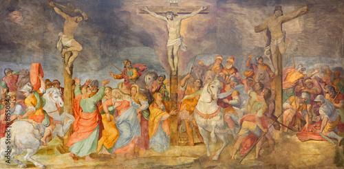Rome - Crucifixion fresco in church Chiesa San Marcello al Corso - 81550840