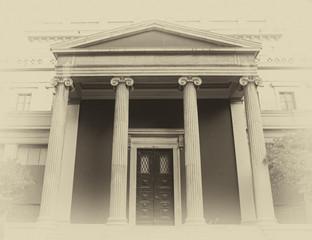 Athens, Greece, vintage entrance, instagram filtered