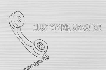 minimal phone illustration, customer service