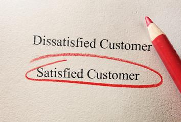 Satisfied Customer survey