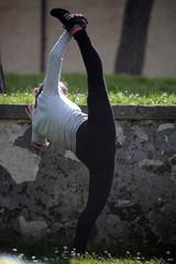 ginnastica nel parco