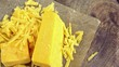 Portion of grated Cheddar (not loopable)