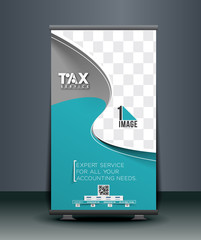 Tax Service Roll Up Banner Design