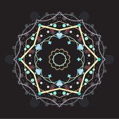 Abstract image with kaleidoscope