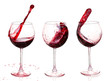 Quadro Set of glasses with red wine