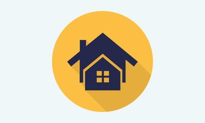 Home flat icon - vector icon 2