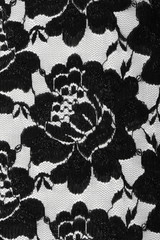 lace with black flowers