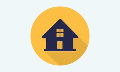 Home flat icon - vector icon 7
