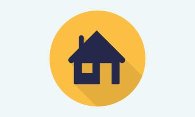 Home flat icon - vector icon 8