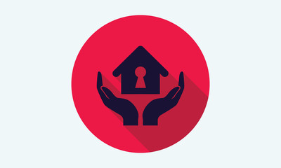Home, house flat icon - vector icon 8