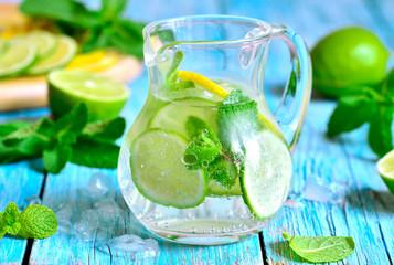 Summer lime and mint lemonade.