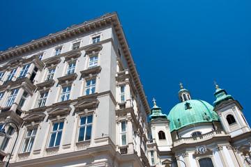 Old architecture in Vienna, Austria.