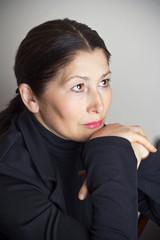Portrait of senior woman asian appearance