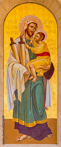 Bethlehem - icon of st. Joseph in St. Catharine church © Renáta Sedmáková