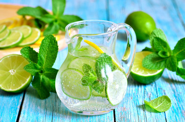 Summer lime and mint lemonade.