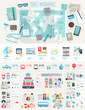 canvas print picture - Travel Infographic set