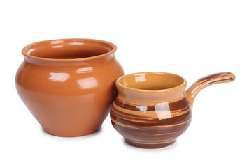 Ceramic brown pot
