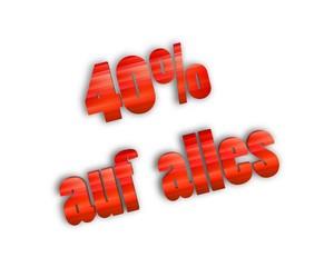 40 % auf alles