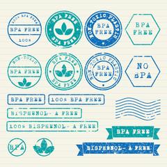 Bisphenol-A stamps set