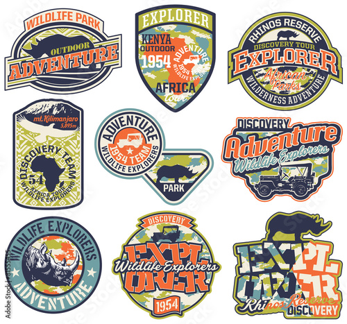 Adventure badges vector collection - 81555455