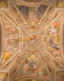 Rome - ceiling fresco of chapel in church Chiesa di San Agostino