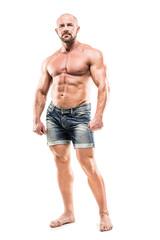 bodybuilder  isolated on white background
