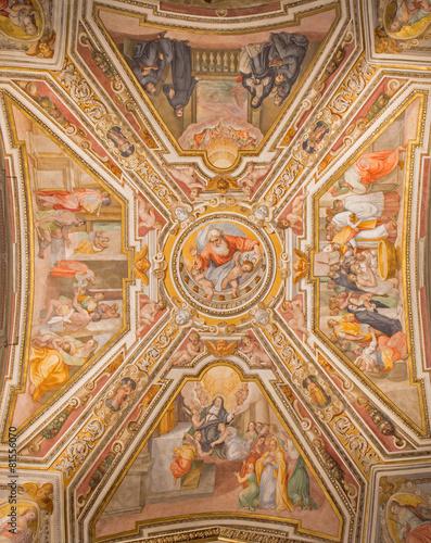 Rome - ceiling fresco of chapel in church Chiesa di San Agostino - 81556070