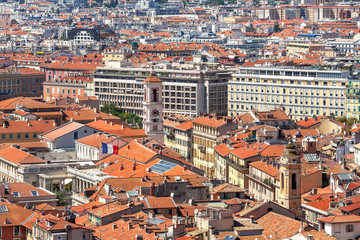View from above on Nice, France.