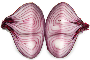 sliced ​​red onion