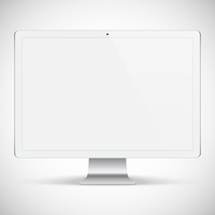 realistic detailed monitor isolated on a gray background