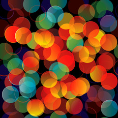 Vector seamless pattern colorful lights.