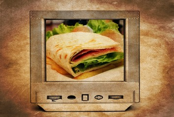 Sandwich on TV