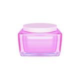 Closeup of jar of moisturizing face cream.