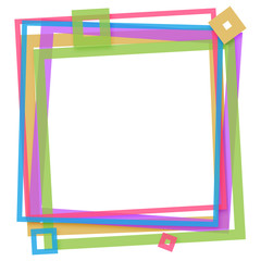 Colorful Square Frame