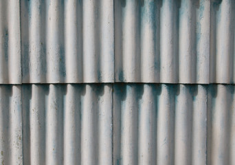 corrugated iron fence blue