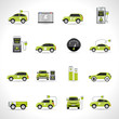 Electric Car Icons - 81559293
