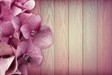 Beautiful Flower wood background