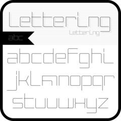 Thin font, abc.