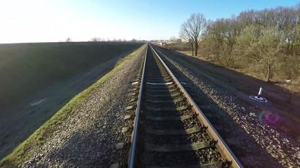 Aerial survey along the railway