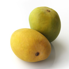 Golden Yellow And Green Mango